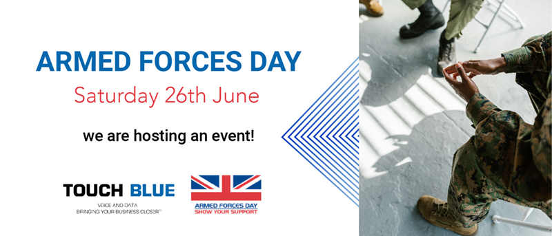 This Saturday is Armed Forces Day and Touch Blue is getting involved!